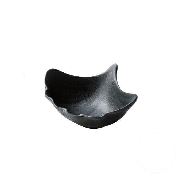 和美作日 Wabisabi 耐熱銀杏鉢 墨黒 5個セット (i2-025-12)