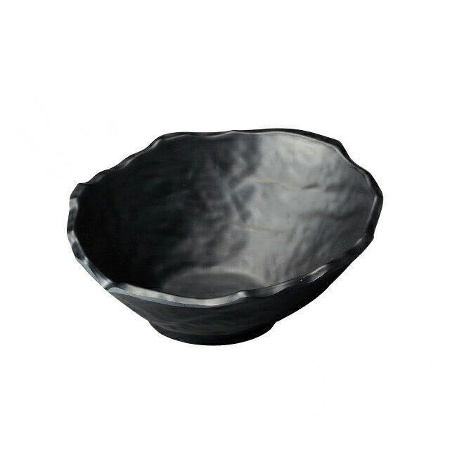 和美作日 Wabisabi 耐熱変形鉢 墨黒 (i2-027-06)