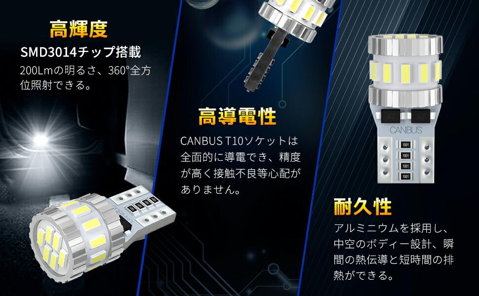 T10 LED ホワイト 車