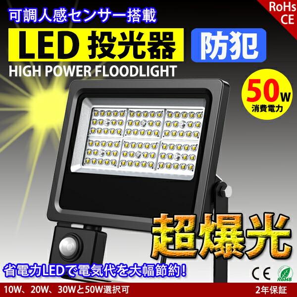 LED人感センサー投光器