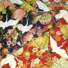 和柄・金粉 鶴と亀