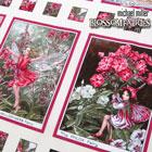 USA 花と妖精パネル柄