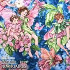 USA Cotton 花と妖精 ブルー
