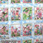 USA Cotton 花と妖精 パネル柄