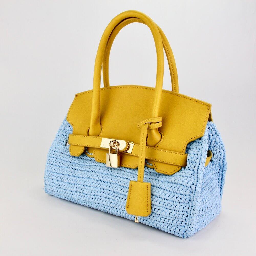バーキン風バッグ、編み物初心者におすすめのキット