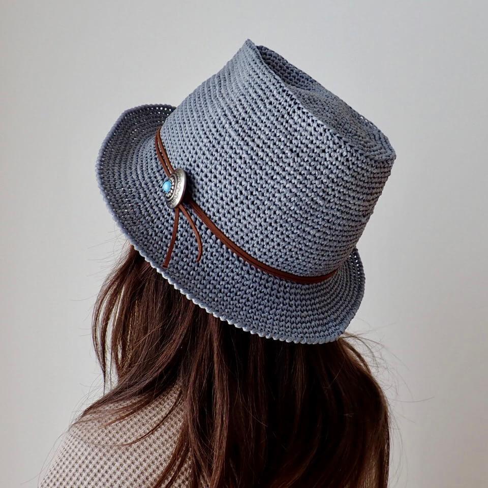 麦わら 帽子 ラフィア