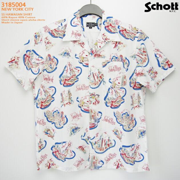アロハシャツ|ショット(SCHOTT)SCH3185004|NEW YORK CITY(ニューヨークシティ)|アイボリー