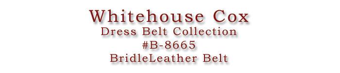 ホワイトハウスコックス/WhitehouseCox/#B-8665/BridleLeatherBelt/ブライドルレザーベルト/ロゴ画像/C.POINT