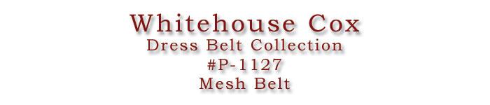 ホワイトハウスコックス/WhitehouseCox/#P-1127/MeshBelt/メッシュベルト/ロゴ画像/C.POINT