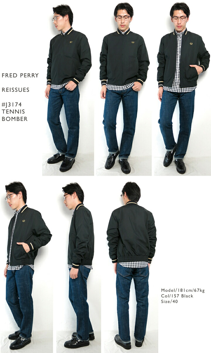 FREDPERRY/REISSUES/#J3174/TennisBomber/テニスボンバージャケット/リイシュー/イングランド製/メンズ/CPOINT