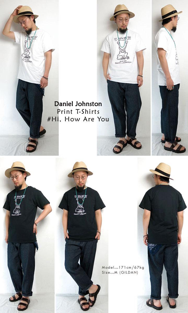 DanielJohnston/ダニエルジョンストン/HiHowAreYou/ハイハウアーユー/Tシャツ/ホワイト/ブラック/CPOINT/シーポイント
