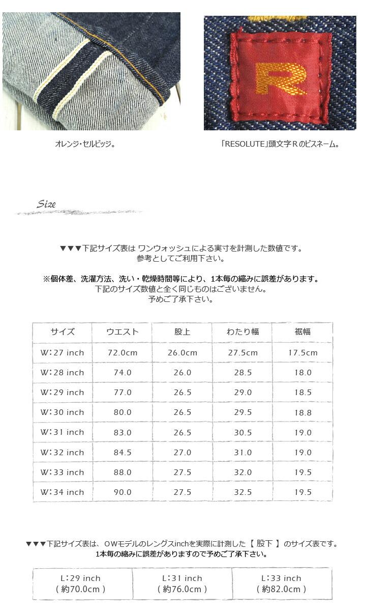 RESOLUTE/リゾルト/712/505モデル/デニム/ジーンズ/テーパード/ワンウォッシュ/綿/インディゴ/日本製/CPOINT/シーポイント