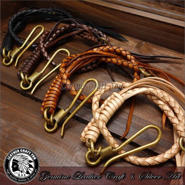 Wallet chain brass wallet chain leather wallet long wallet leather bikie  gap semen leather wallet handmade genuine leather wallet rope bikies wallet
