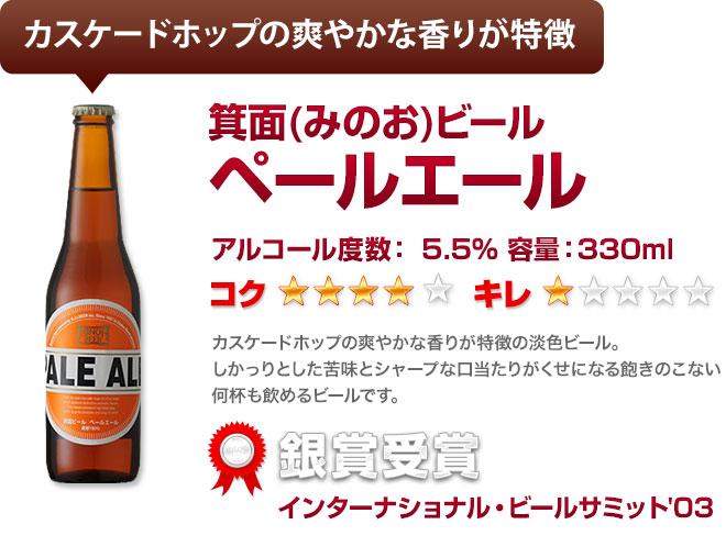 カスケードホップの爽やかな香りが特徴 箕面ビール ペールエール