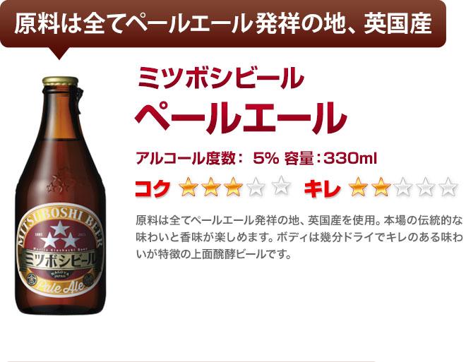 ミツボシビールのペールエール