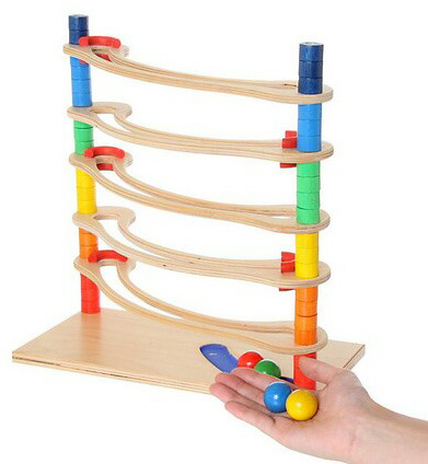 【名入れ無料】木のおもちゃ スロープ|木製ロールバーン|ドイツ製 ヘス社 HESS木製玩具