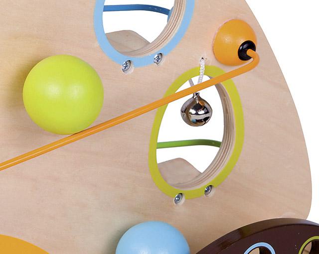 木のおもちゃ スロープ バードボール トラック の鈴