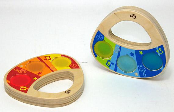 木のおもちゃ 赤ちゃん|シェイク イット アップ デュオ|Hape ハペ 木製玩具