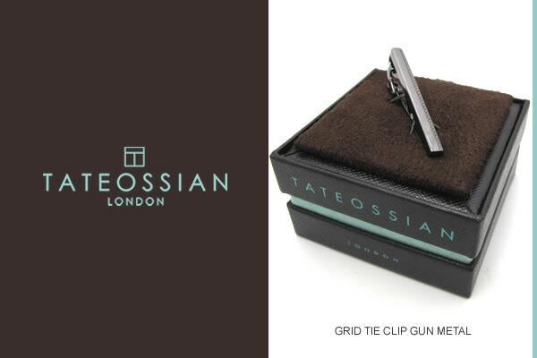 GRID GUN METAL TIE CLIP