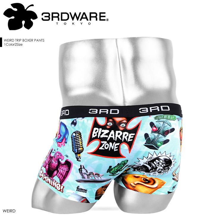 3RDWARE サードウェア WEIRD TRIP メンズ ボクサーパンツ メイン画像