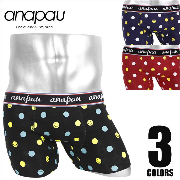 anapau アナパウ スマイルドット ボクサーパンツ メイン画像