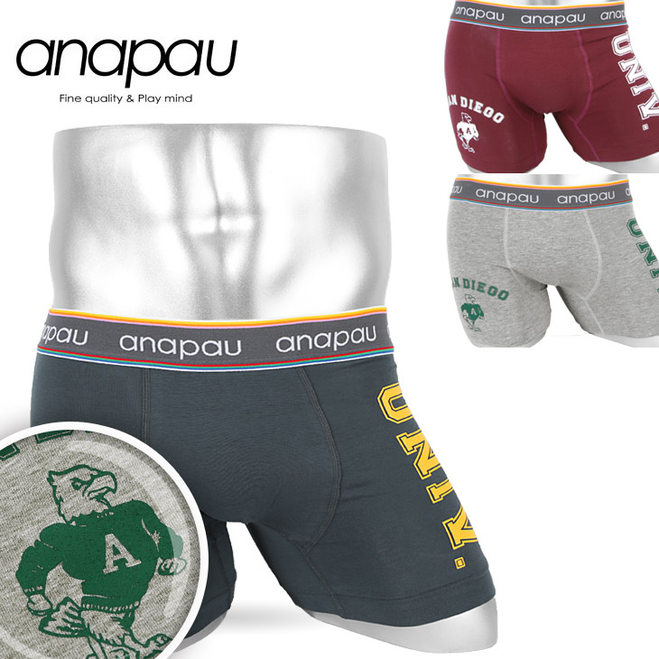 anapau アナパウ カレッジ メンズ ボクサーパンツ メイン画像