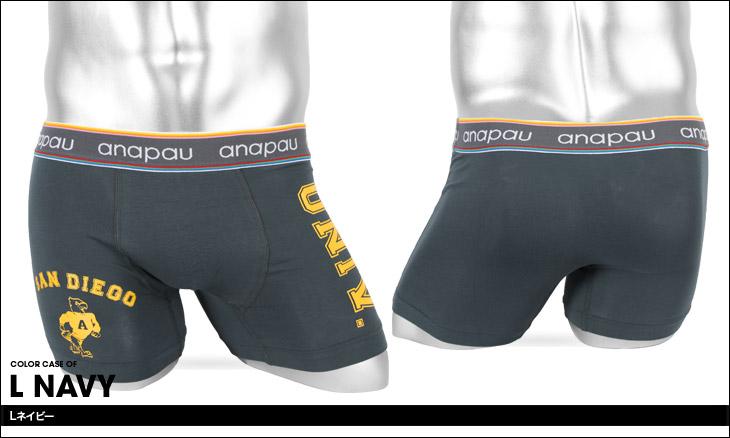 anapau アナパウ カレッジ メンズ ボクサーパンツ カラー画像