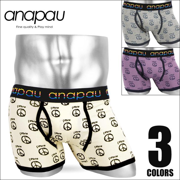 anapau アナパウ PEACE メンズボクサーパンツ メイン画像