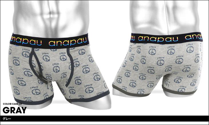 anapau アナパウ PEACE メンズボクサーパンツ カラー画像