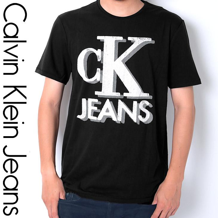 Calvin Klein カルバンクライン OLD SCHOOL CKJ LOGO メンズ クルーネック 半袖 Tシャツ メイン画像