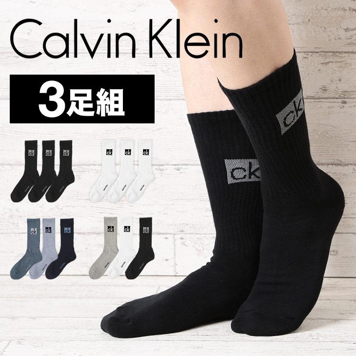 Calvin Klein カルバンクライン 3PACK cushion big logo ソックス メイン画像