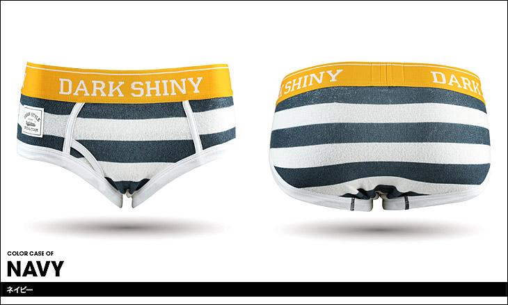 DARK SHINY ダークシャイニー ボーダー パイル レディース ボクサーショーツ カラー画像