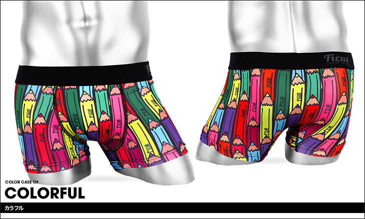FICUS フィークス FUNNY PENCIL メンズ ボクサーパンツ カラー画像