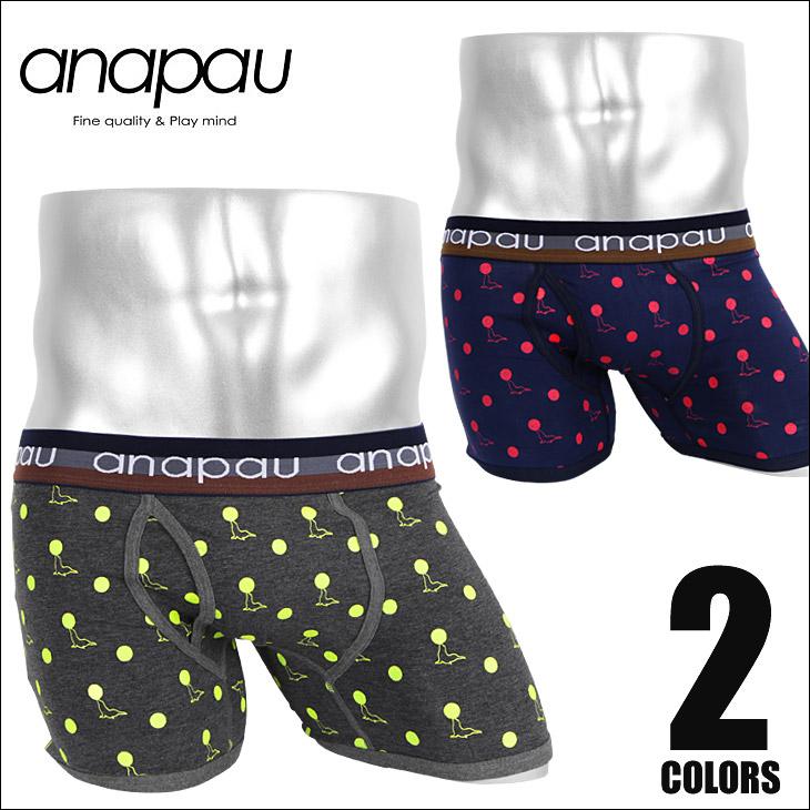 anapau アナパウ アシカドット メンズ ボクサーパンツ メイン画像