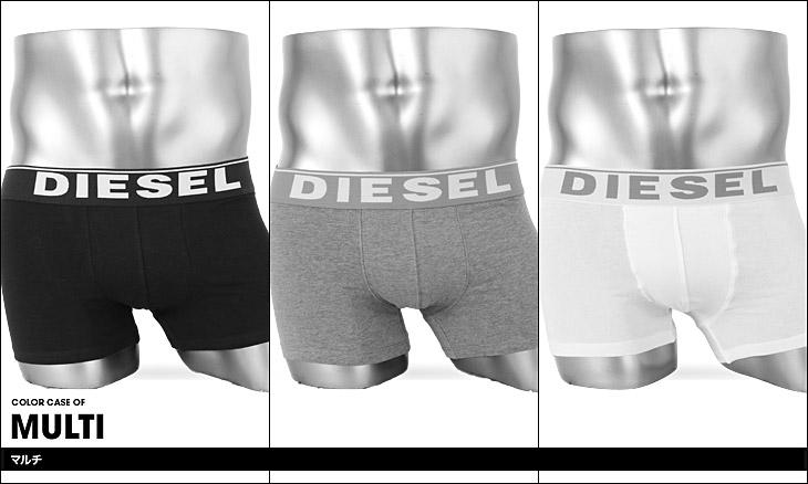 DIESEL ディーゼル 3-Pack Basic Kory メンズ 3枚組 ボクサーパンツ カラー画像