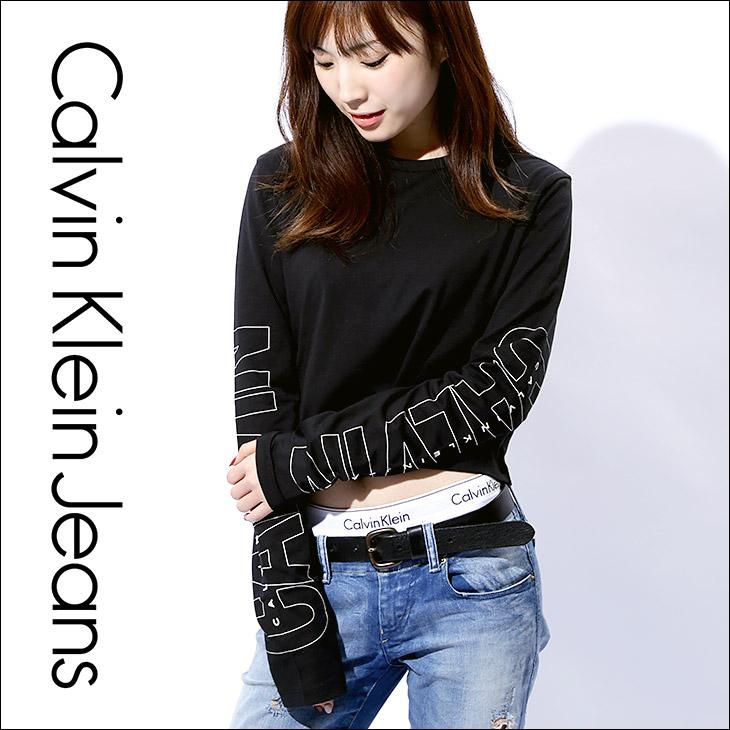 Calvin Klein カルバンクライン SLEEVE LOGO レディース ロンT メイン画像