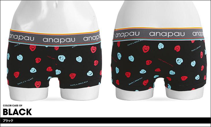 anapau アナパウ スマイルハート レディース ボクサーパンツ カラー画像