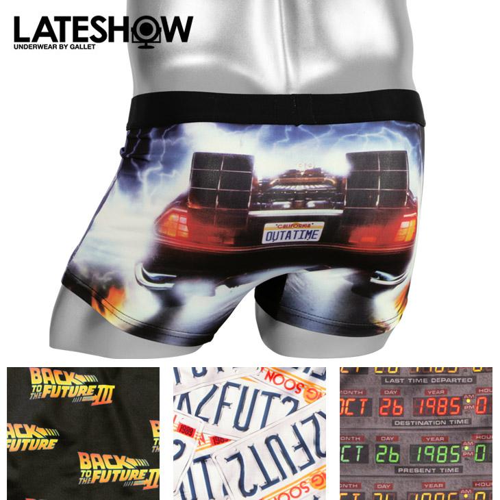 LATESHOW レイトショー BACK TO THE FUTURE×LATESHOW メンズ ボクサーパンツ メイン画像