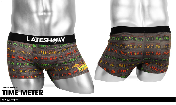LATESHOW レイトショー BACK TO THE FUTURE×LATESHOW メンズ ボクサーパンツ カラー画像