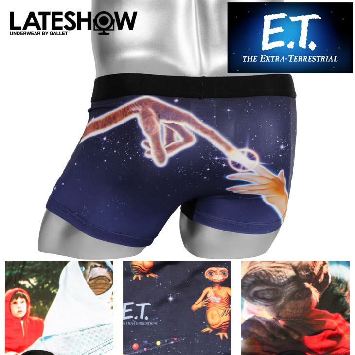 LATESHOW レイトショー E.T.×LATESHOW メンズ ボクサーパンツ メイン画像