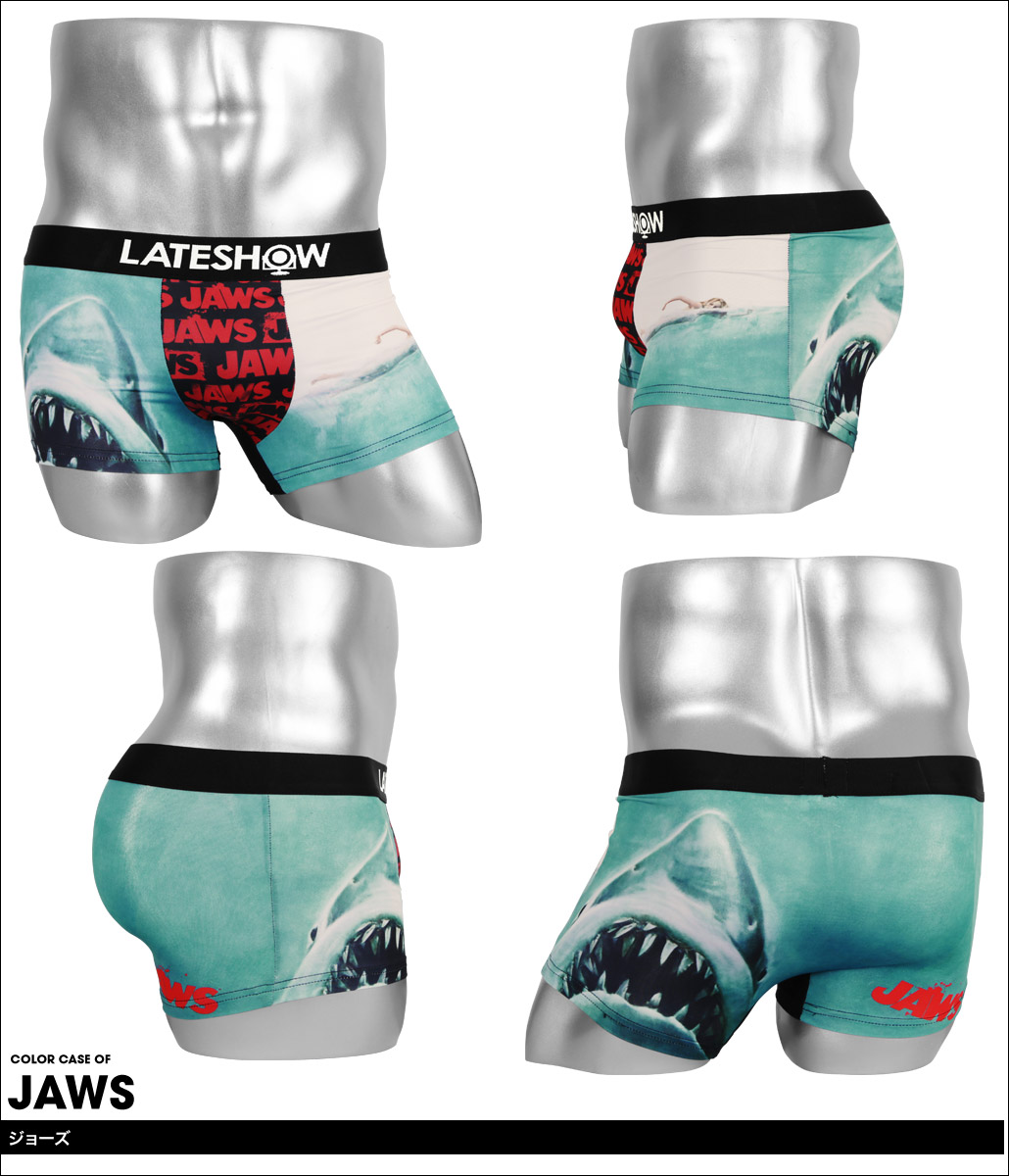 LATESHOW レイトショー JAWS×LATESHOW メンズ ボクサーパンツ カラー画像