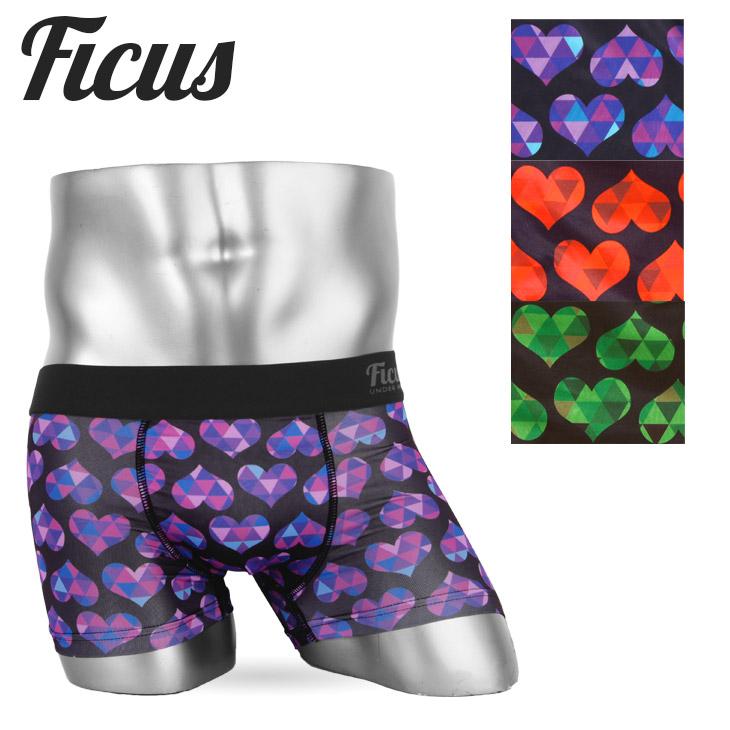 FICUS フィークス Heart Scale Pattern ボクサーパンツ メイン画像