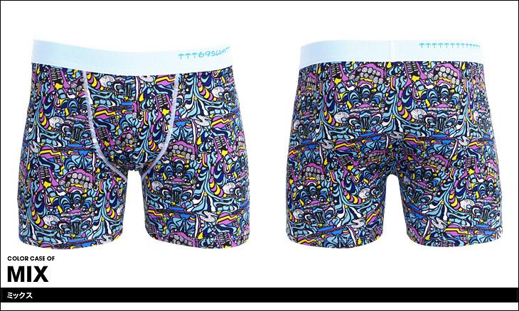 69SLAM ロックスラム GRIM メンズ ロング ボクサーパンツ カラー画像