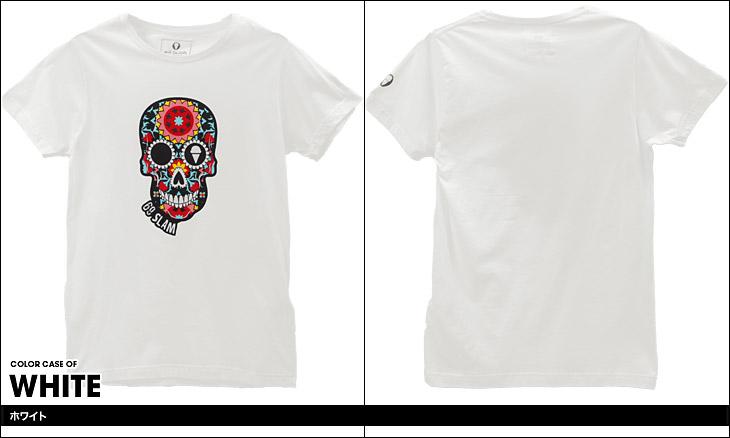 69SLAM ロックスラム FLOWER SKULL メンズ クルーネック 半袖 Tシャツ カラー画像