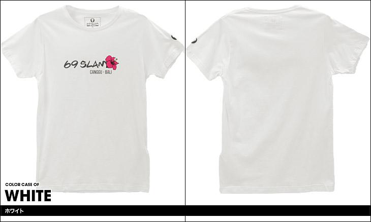 69SLAM ロックスラム HIBISCUS LOGO メンズ クルーネック 半袖 Tシャツ カラー画像