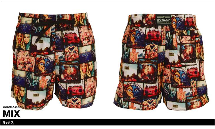 69SLAM ロックスラム FESTIVAL メンズ サーフパンツ カラー画像