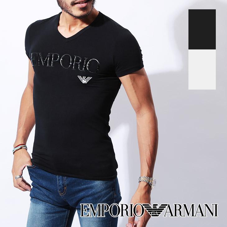 EMPORIO ARMANI エンポリオアルマーニ SLEEVE 半袖 Vネック Tシャツ メイン画像