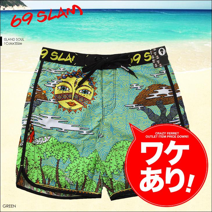 69SLAM ロックスラム ISLAND SOUL メンズ サーフパンツ メイン画像