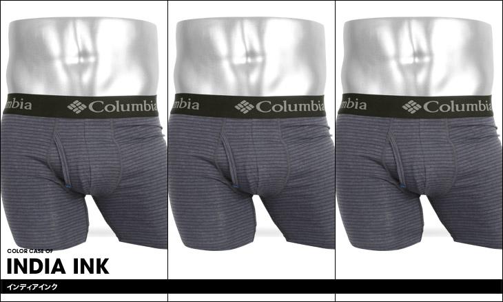 Columbia コロンビア 【3枚組セット】PERFORMANCE BORDER コットンストレッチ メンズ ロングボクサーパンツ カラー画像