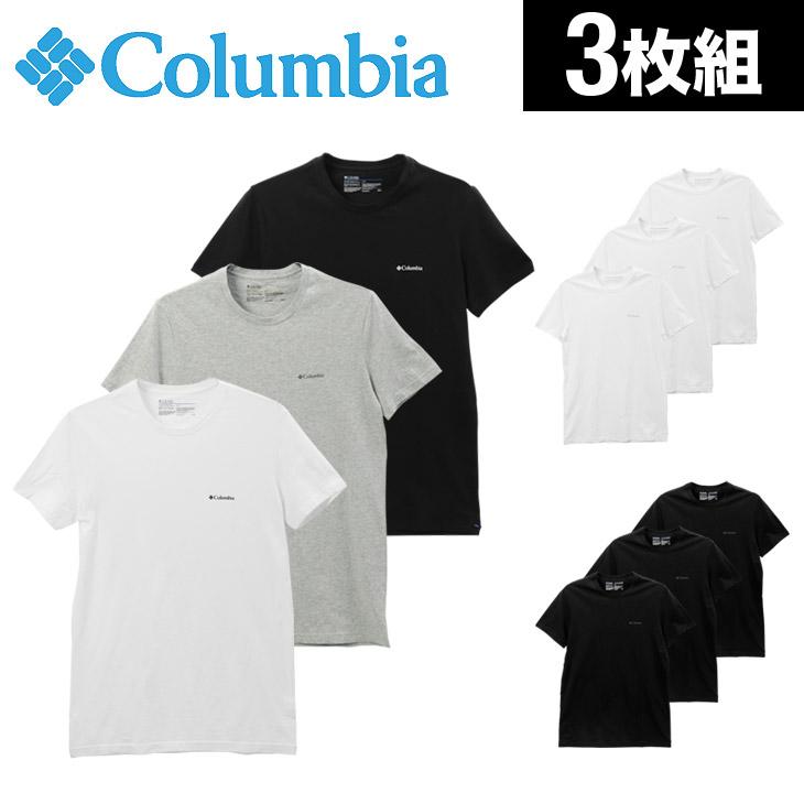Columbia コロンビア 【3枚組セット】コットン100% メンズ 半袖 クルーネック Tシャツ メイン画像